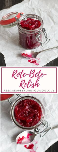 This beetroot relish is the perfect winter companion! It tastes Feed me up be. - This beetroot relish is the perfect winter companion! It tastes Feed me up before you go-go {Rez - Beetroot Relish, Relish Recipes, Homemade Burgers, Winter Food, Great Gifts, Mayonnaise, Mozzarella, Janina, Chutneys