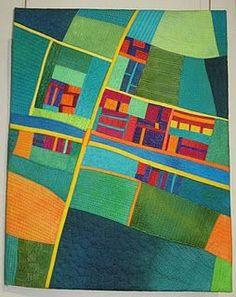 From the blog of a German artist..more map quilts.: