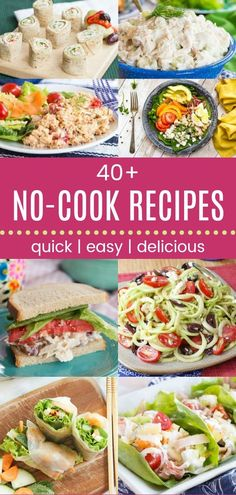 Healthy Summer Recipes, Healthy Meals To Cook, No Cook Meals, Healthy Cooking, Lunch Recipes, Cooking Recipes, Dinner Healthy, Healthy Food, Quick Summer Meals