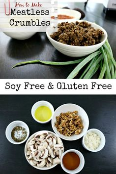 Meatless Crumbles Soy Free and Gluten Free