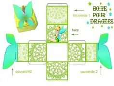 Decorating a Bedroom with Papered Boxes Tinkerbell Party Theme, Fairy Birthday Party, Diy Gift Box, Diy Box, Diy With Kids, Paper Box Template, Peter Pan And Tinkerbell, Printable Box, Printables