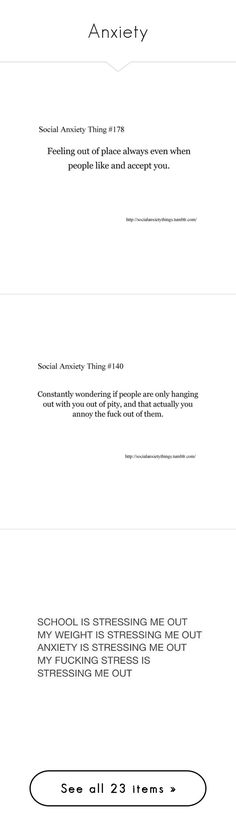 """""""Anxiety"""" by squishycake ❤ liked on Polyvore featuring quotes, words, text, anxiety, backgrounds, phrase, saying, social anxiety, fillers and doodle"""