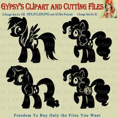 My Little Pony Ponies Silhouettes Templates Save by GypsysClipart