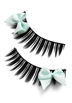 Look at Bows Eyes Lashes in Mint - Mint, Girls Night Out, Rockabilly, Bows, Under $20, Gals, Halloween