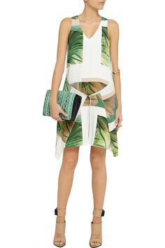 TibiFiore di cactus printed silk mini dressback