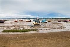 Morecombe beach fishing boats