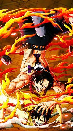 Ace y Luffy One Piece Ace, One Piece Comic, One Piece Fanart, One Piece Pictures, One Piece Images, Roronoa Zoro, Portgas Ace, One Piece English Sub, Akuma No Mi