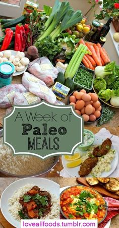A Week of Paleo Meals from And Here We Are... Practically speaking, what a week of paleo meals (3 meals a day for 3 people) on a budget looks like.