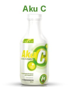 AkuC is a high quality antioxidant for the maintenance of good health and a good source of vitamin C. When used regularly, it contributes to the maintenance of good health and helps prevent vitamin C deficiency. Vitamin C, Bottle, Drinks, Health, Food, Products, Meal, Health Care, Flask