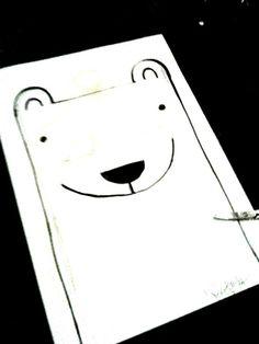 I just made a stencil for a Polarbear T-shirt! :) #shirt #design #handmade