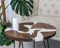 Solid Wood Manufacture. Handmade from Caucasus Russia by CaleoWood Epoxy Table Top, Epoxy Resin Table, Solid Wood Coffee Table, Unique Coffee Table, Unique Dining Tables, Wooden Tables, Diy Resin Crafts, Live Edge Table, Wood Slab