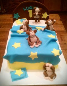 Monkey's Jumping on the Bed Cake!