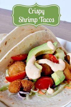 Crispy Shrimp Tacos - A Delicious Meal Ready in 15 Minutes! {The Love Nerds} #15minutemeal #shrimptacos #tacorecipe