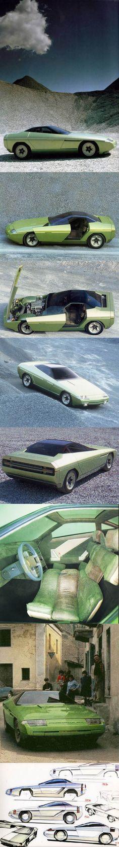 1984 Bertone Ramarro / Marc Deschamps / Chevrolet Corvette / Belgium / Italy / concept / green / 17-24