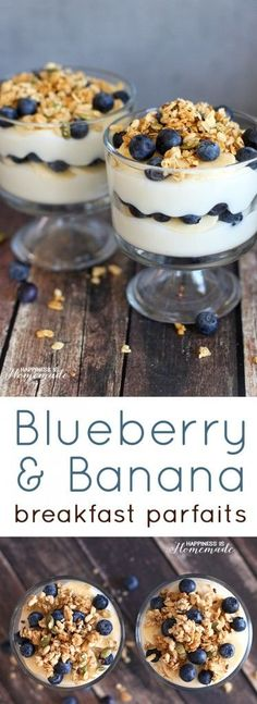 Bluberry Banana Yogurt Breakfast Parfait Recipe with #MountainHighYoghurt #ad