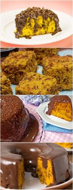 BOLO FORMIGUEIRO DE CENOURA, ESTE BOLO É FORMIDÁVEL!!! VEJA AQUI>>>Bater no liquidificador as cenouras picadas, os ovos e o óleo até desmanchar todas as cenouras. #receita#bolo#torta#doce#sobremesa#aniversario#pudim#mousse#pave#Cheesecake#chocolate#confeitaria
