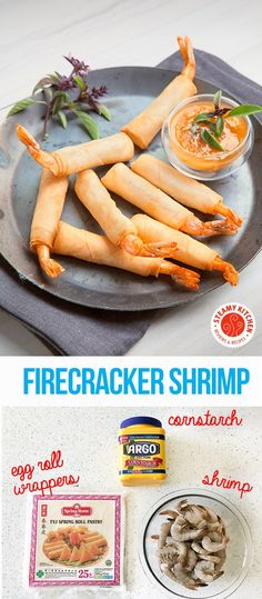 Firecracker Shrimp: only 3 ingredients! Mango Ginger Dipping sauce takes 3 minutes to make. #spon #argocornstarch