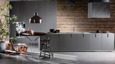 Modern Luxury Kitchens For A Grand Kitchen Kitchen Modular, Modern Kitchen Cabinets, Kitchen Interior, Grey Wood Furniture, Grand Kitchen, Cocinas Kitchen, Contemporary Kitchen Design, Luxury Kitchens, Modern Kitchens