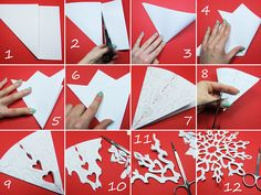 65 ideas diy paper crafts tutorial snow flake for 2019 Easy Christmas Decorations, Christmas Crafts For Kids, Christmas Diy, Christmas Lanterns, Diy Projects For Kids, Diy Crafts For Kids, How To Make Snowflakes, Diy Gifts For Him, Diy Papier