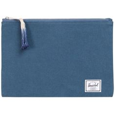 Herschel Supply Women's Network Cotton Canvas Pouch - Dark Blue/Navy (115 ILS) ❤ liked on Polyvore featuring bags, handbags, clutches, zipper handbag, blue purse, pouch purse, striped purse and navy clutches