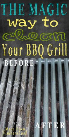 Ammonia BBQ grill cleaning method. No scrubbing! Madefrompinterest.net