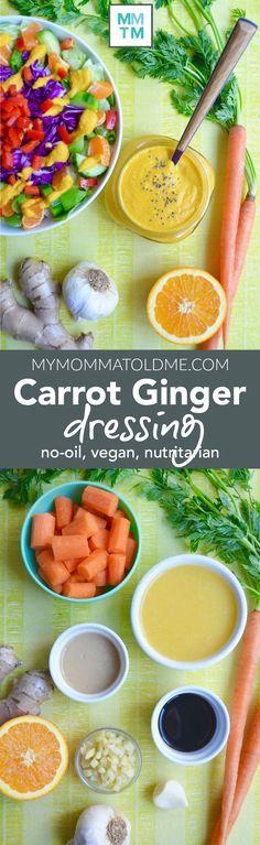 No-Oil Carrot Ginger Dressing