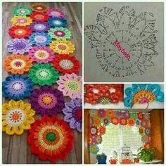 Diy adorn your window with a flower crochet valance – Artofit Crochet Diy, Diy Crochet Flowers, Crochet Motifs, Crochet Flower Patterns, Crochet Diagram, Afghan Crochet Patterns, Crochet Home, Crochet Shawl, Crochet Designs