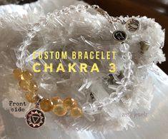 Chakra 3 bracelet helps you to set healthy boundaries and connect with your power center. We design custom chakra jewelry. Zen jewelz | ZenJen | chakra jewelry | chakra 3 | yoga jewelry | energy jewelry | beaded bracelets | crystal Healing jewelry