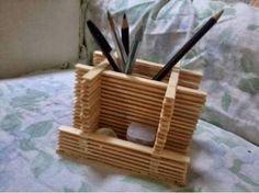 Resultado de imagem para artesanato com palito de picolé