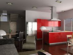 Decoración con tonalidades del rojo http://blgs.co/ZNpB1s