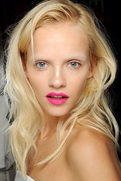 Light Fuchsia lip & bleached eyebrows.