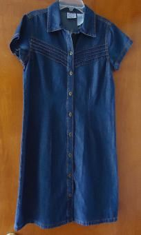 free shipping Fashionable Jeans dress 100% cotton size S v cute 4 her $9.99