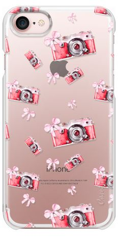 05179df32d Casetify iPhone 7 Wallet Case - Cute Romantic Vintage Red Photo Camera Pink  Bows Fashion Pattern