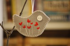 Items similar to Felt Bird Ornament/ Decoration on Etsy. , via Etsy.