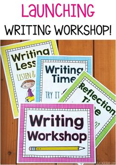 Writing Workshop How To Guide!  Includes Writing Workshop posters, daily lessons, writing process posters, revising and editing foldups and more!