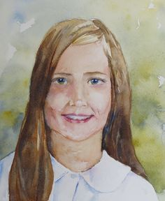 "Cathryn Whan Watercolor ""Ashley"""
