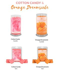 2 of my favorite scents just got new labels..don't they look amazing? ? And they smell so delicious!!! Place your order today and I will send you a free tart!!! #jic