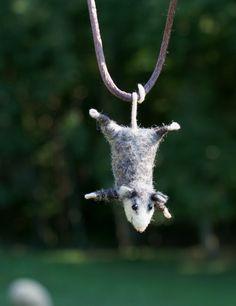 cutest lil 'possum!  ... ZiBagz ...: Astonishing Needle Felt Art