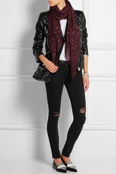Alexander McQueen   Leopard-print cashmere and silk-blend scarf   NET-A-PORTER.COM