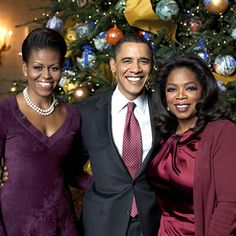 Barack Obama, Michelle Obama and Oprah Winfrey.....beautiful, powerful and Black!