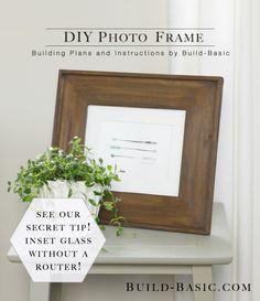 Build DIY Photo Frame - Building Plans by @BuildBasic www.build-basic.com