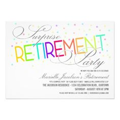 Retirement Party Invitation Dinner Party Invitation Retirement