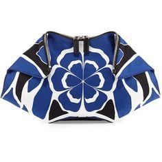 Alexander McQueen De-Manta Floral-Print Clutch Bag
