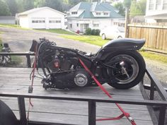 Harley Soft Tail Nit Train before new front end & paint job.