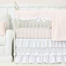 Love You More Blush Pink Baby Bedding Collection