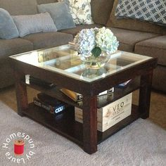 DIY Coffee Table made with Repurposed Old Window: Homespun by Laura