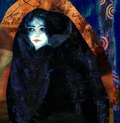 Suhair Sibai - Syrian Artist  You long to belong Mixed Media on Canvas