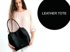 Prada Nero Tessuto Suffian Black Nylon and Leather Shopping Tote Bag Style: Prada Shopping Tote Material: Tessuto (Nylon) + Saffian (Leather) Black Leather Tote Bag, Leather Purses, Leather Shoulder Bag, Fashion Handbags, Fashion Bags, Black Luxury, Vintage Purses, Shopper Tote, Black Purses