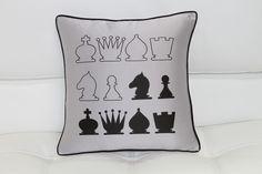 Chess Pillow http://www.agmfurniture.com/accessories-140/pillows/modrest-black-and-gray-chess-throw-pillow.html