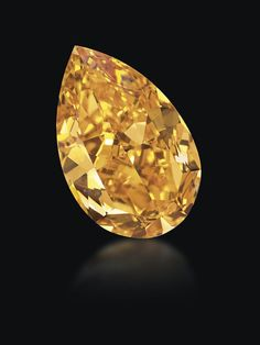 Christie's sold also this week for 31.5 million dollars the world's largest orange pear-cut diamond